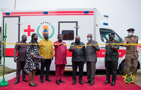 President Akufo-Addo Presents 40 Vehicles to NADMO