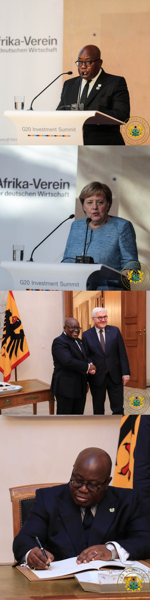 Siemens AG To Establish Presence In Ghana Soon — President Akufo-Addo - President Akufo Addo speaking at the Compact with Africa Conference down - Siemens AG To Establish Presence In Ghana Soon — President Akufo-Addo
