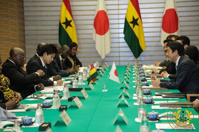 Ghana To Emulate Japan's Success Story – President Akufo-Addo - akufo addo bilateral talks abe - Ghana To Emulate Japan's Success Story – President Akufo-Addo