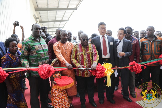 President Akufo-Addo Commissions Largest Diaper Making Factory In Sub-Saharan Africa Under 1D1F - akufo addo diaper factory - President Akufo-Addo Commissions Largest Diaper Making Factory In Sub-Saharan Africa Under 1D1F