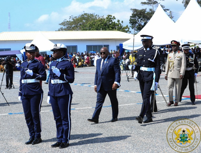 17,418 Officers Promoted In 22 Months & 308 Vehicles Given To Police Service — President Akufo-Addo - akufo addo guard of honours - 17,418 Officers Promoted In 22 Months & 308 Vehicles Given To Police Service — President Akufo-Addo