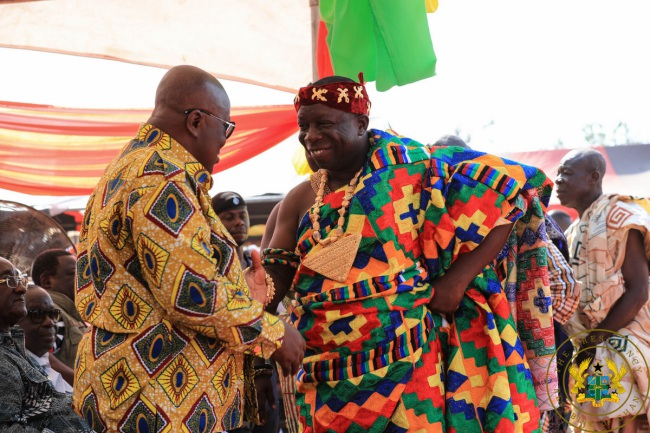 Afram Plains Chief Tells President Akufo-Addo: Thanks For Not Coming By Helicopter - akufo addo nana kwasi opoku mintah - Afram Plains Chief Tells President Akufo-Addo: Thanks For Not Coming By Helicopter
