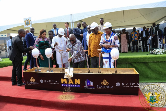 president akufo-addo cuts sod for pullman accra airport city project - akufo addo pullman - President Akufo-Addo Cuts Sod For Pullman Accra Airport City Project
