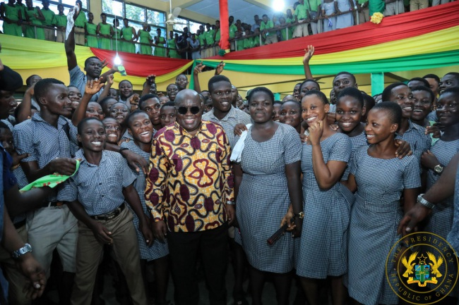 Government's Free SHS Policy Programme Working — President Akufo-Addo - akufo addo students of oda shs - Government's Free SHS Policy Programme Working — President Akufo-Addo