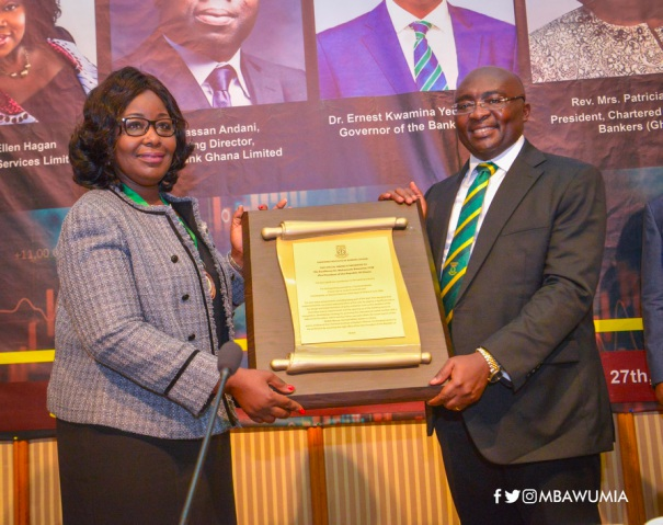 Vice President Dr. Bawumia Honoured By Ghana Chartered Institute Of Bankers - bawumia bank - Vice President Dr. Bawumia Honoured By Ghana Chartered Institute Of Bankers