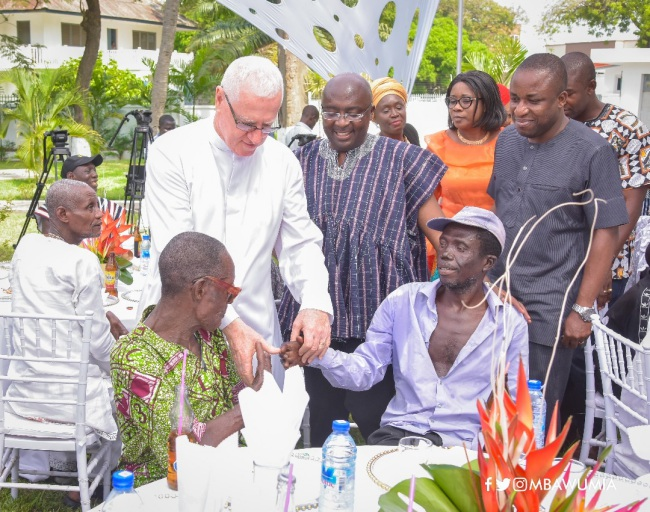 father campbell praises vice president dr. bawumia's treatment of lepers: he made me the happiest man - campell and bawumia - Father Campbell Praises Vice President Dr. Bawumia's Treatment Of Lepers: He Made Me The Happiest Man