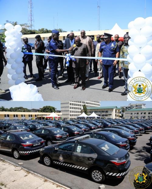 President Akufo-Addo Presents 200 Toyota Camry Vehicles To Ghana Police Service - police camry - President Akufo-Addo Presents 200 Toyota Camry Vehicles To Ghana Police Service
