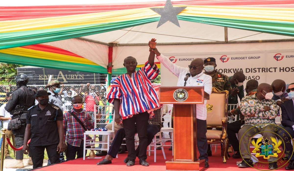 President Akufo-Addo Completes And Commissions 12 Yr. Old 60-Bed Twifo Praso Hospital